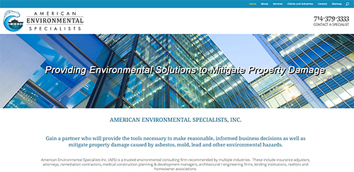 Link to American Environmental Specialists website
